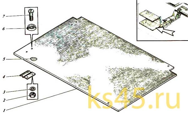 Полка нижняя ТМ120-55-сб101