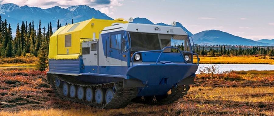 Гусеничная транспортная машина ТМ140 с модулем-мастерской