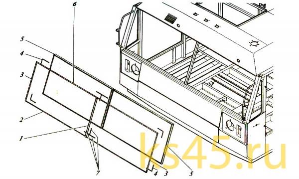 Кабина TM 120-57-сб301 (установка стеклопакета)
