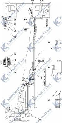 1502-25-1-01СП Установка топливного бака 1.6