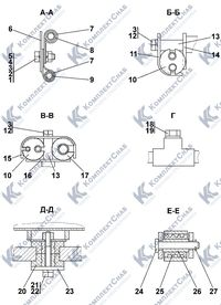2002-25-1-01СП Установка топливного бака 1.7