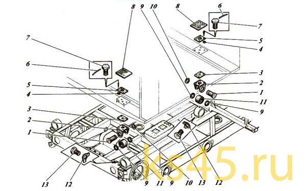 Установка кабины ТМ120-57-сб300