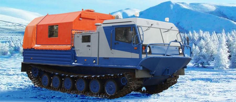 Гусеничный плавающий вездеход ТМ140 с пассажирским модулем