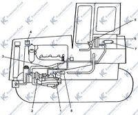 Схема трассы системы подогрева трубоукладчика ТГ122Я 2.6