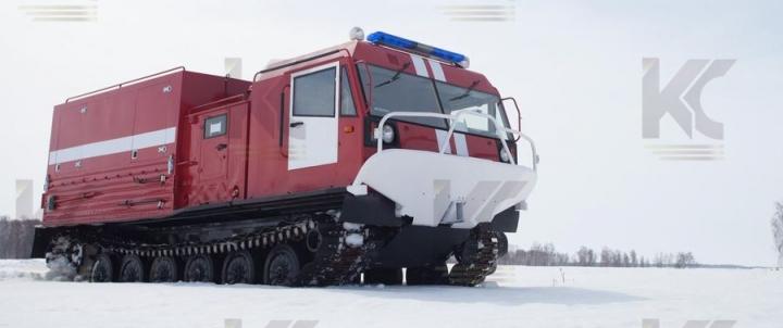 Пожарная насосная станция на базе гусеничного вездехода ЧЕТРА ТМ-140