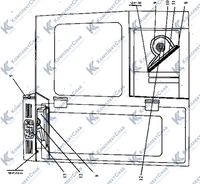 2501-57-3СП Установка вентиляторов кабины 63